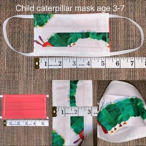 Other - Child very hungry caterpillar fabric face mask